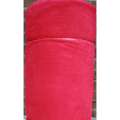 150cm Polarfleece in rot mit Antipilling Finish - Doubleface rot/rot