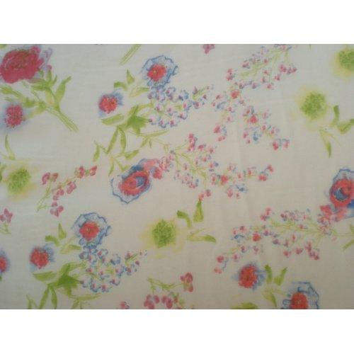 Chiffon Bedruckt Blumen Motive Stoff Meterware 595